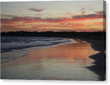 Canvas Print featuring the photograph Sunset Kissing Shore II by Amanda Holmes Tzafrir