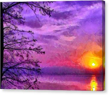 Sunset Lake Canvas Print by Anthony Caruso