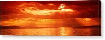 Sunset, Lake Geneva, Switzerland Canvas Print