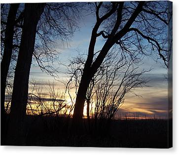 Canvas Print featuring the photograph Sunset 1 by Larry Campbell