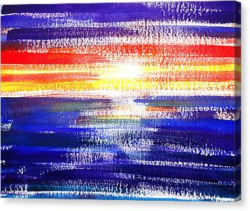 Sunset Lines Abstract Canvas Print