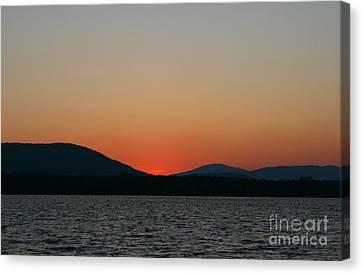 Sunset Lines Of Lake Umbagog  Canvas Print by Neal Eslinger