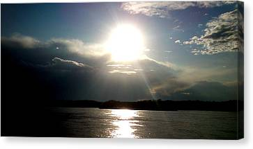 Canvas Print featuring the photograph Sunset by Lucy D