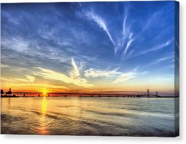 Sunset Mackinac Bridge Canvas Print