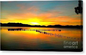 Sunset Canvas Print by Marguerite Spieker