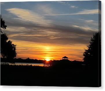 Canvas Print featuring the photograph Sunset Mellow Love  by Joetta Beauford