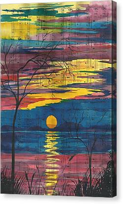 Sunset Melody Canvas Print by Beverly Marshall