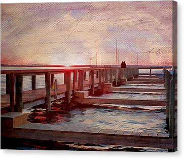 Sunset Memories From Chincoteague Canvas Print by Julia Springer