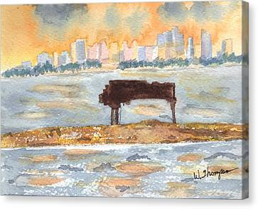 Sunset Miami Piano Bar  Canvas Print