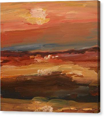 Canvas Print featuring the painting Sunset by Michael Helfen