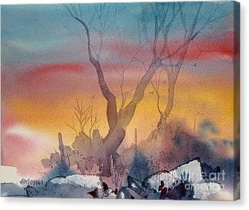 Sunset Canvas Print by Micheal Jones