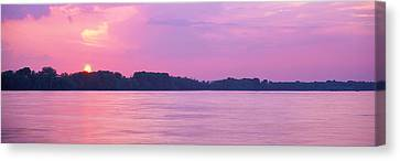 Orb Canvas Print - Sunset Mississippi River Memphis Tn Usa by Panoramic Images