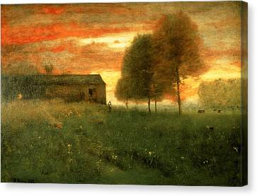 Sunset, Montclair, 1892 Canvas Print by George Snr. Inness