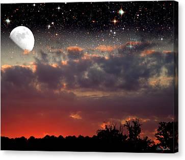 Sunset Moonrise Canvas Print