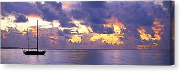 Sunset Moorea French Polynesia Canvas Print by Panoramic Images