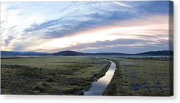 Sunset National Protected Wetlands Canvas Print