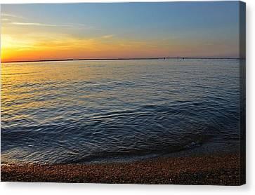 Sunset Near Chesapeake Bay Bridge Canvas Print