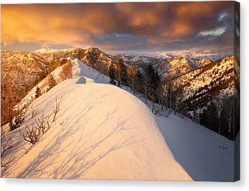Sunset Near Snowbasin Canvas Print by Rory Wallwork