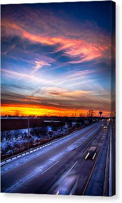 Sunset North Of Chicago 12-12-13 Canvas Print