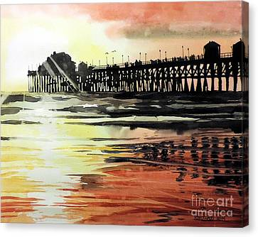 Sunset Oceanside Pier Canvas Print