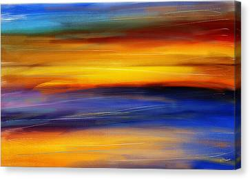 Sunset Of Light Canvas Print by Lourry Legarde