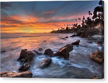 Sunset Off The California Coast Canvas Print