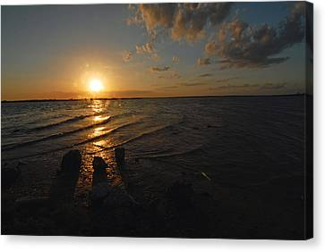 Canvas Print featuring the photograph Sunset Olivia Texas by Susan D Moody