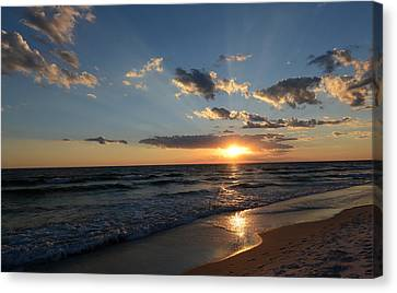 Sunset On Alys Beach Canvas Print