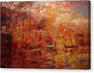 Sunset On Atlantis Canvas Print by R W Goetting