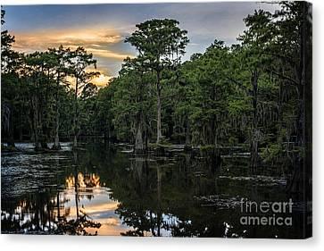 Sunset On Caddo Lake Canvas Print