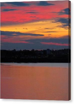 Sunset On Casco Bay Maine Canvas Print by Patricia E Sundik
