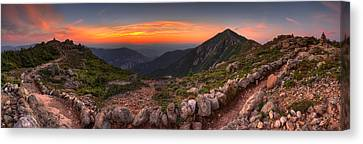 Sunset On Franconia Ridge Canvas Print