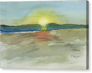 Sunset On Hilton Head Island Canvas Print by Frank Bright