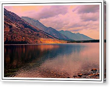 Sunset On Jenny Lake Canvas Print