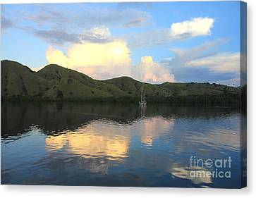 Sunset On Komodo Canvas Print by Sergey Lukashin