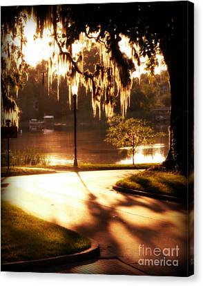 Canvas Print featuring the digital art Sunset On Lake Mizell by Valerie Reeves