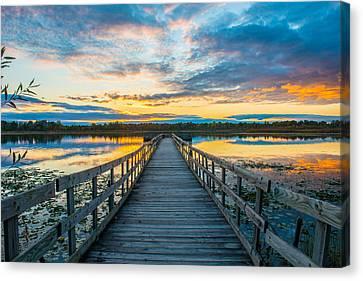 Sunset On Lake Sixteen Canvas Print