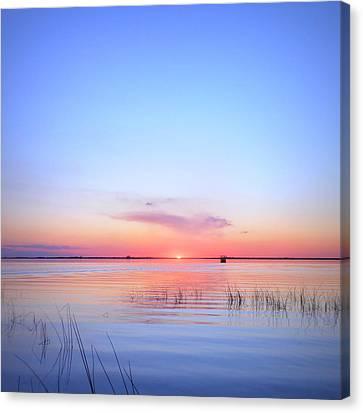 Sunset On Lake Washington Canvas Print