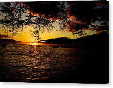 Sunset On Maui Canvas Print