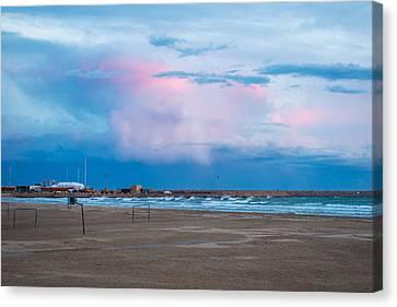 Sunset On Mediterranean Sea Spain Canvas Print by Marek Poplawski
