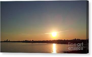 Sunset On Montevideo Canvas Print