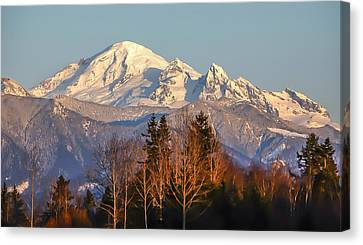 Sunset On Mount Baker Canvas Print