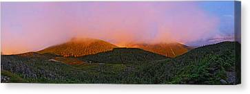 Sunset On Mount Lafayette Canvas Print