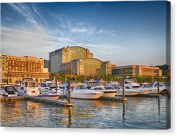 Sunset On National Harbor Canvas Print