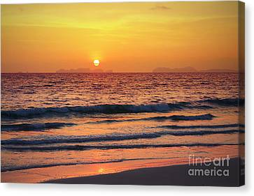 Sunset On Phiphi Island Canvas Print