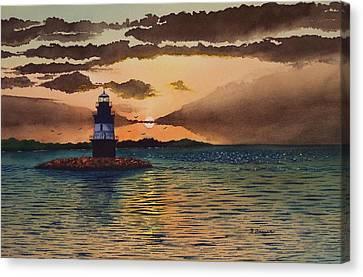 Sunset On Plum Gut Canvas Print