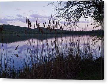 Canvas Print featuring the photograph Sunset On Rockland Lake - New York by Jerry Cowart