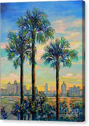 Sunset On Sarasota Bay Canvas Print