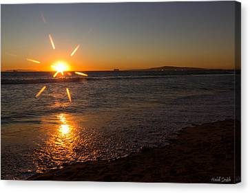 Sunset On Sunset Beach Canvas Print by Heidi Smith