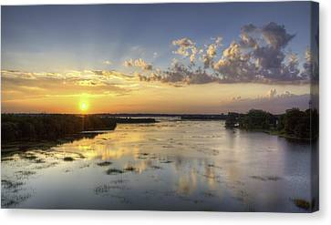 Sunset On The Ashley Canvas Print